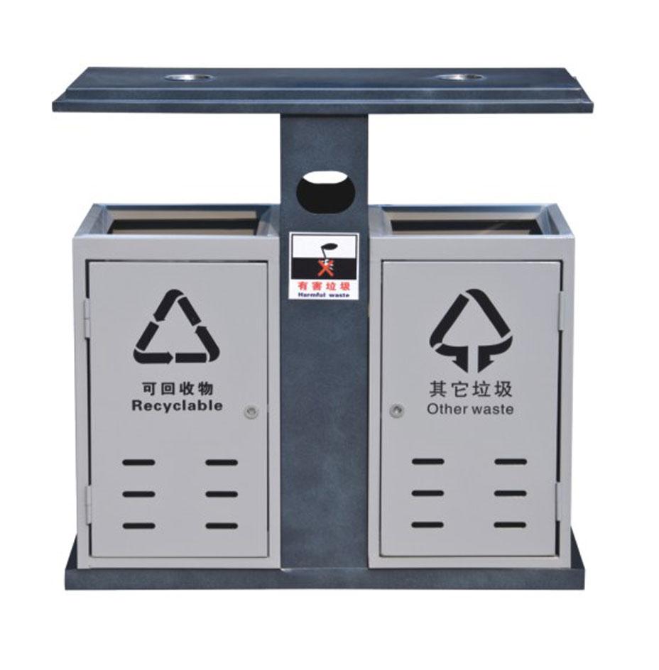 双筒不锈钢垃圾桶 - 山西垃圾桶厂家